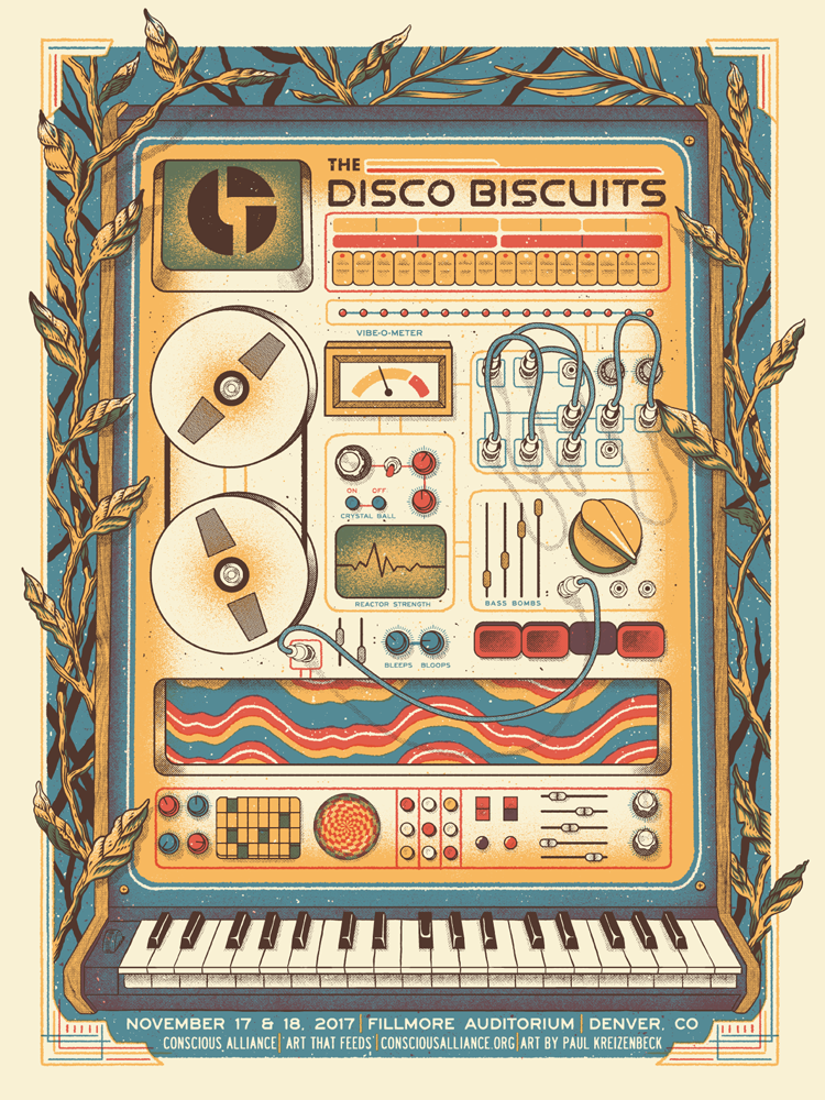 Disco Biscuits Fillmore Poster Gigposter by Paul Kreizenbeck