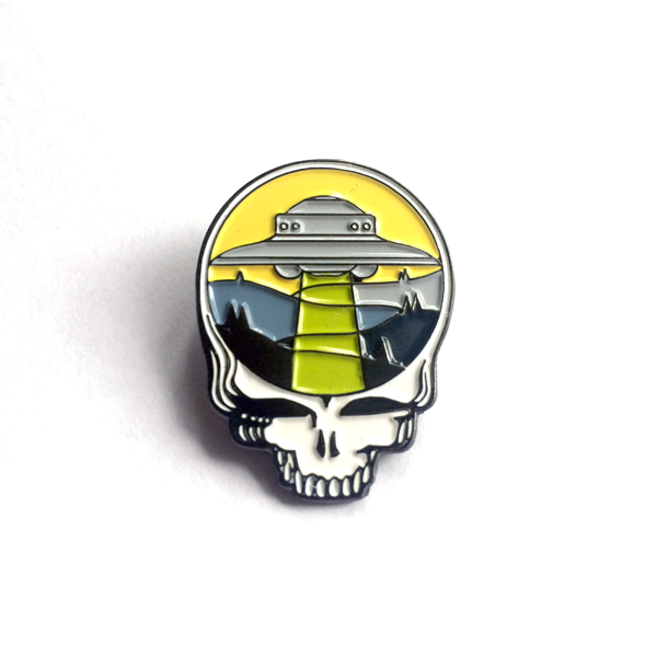 Grateful Dead UFO Enamel Pin by Paul Kreizenbeck