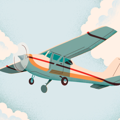 Airplane Illustration by Paul Kreizenbeck