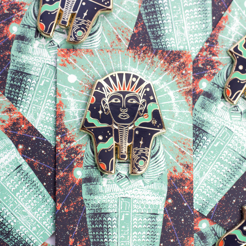 Pharaoh Enamel Pin by Paul Kreizenbeck