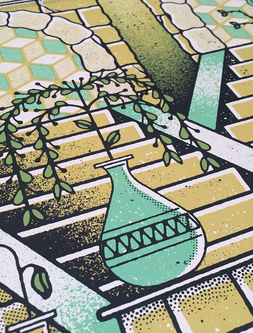 Ruins Art Print Illustration by Paul Kreizenbeck