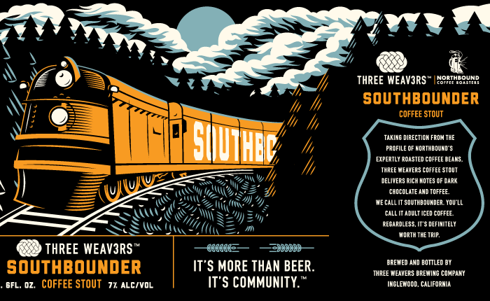 Southbounder Beer Label Packaging Illustration