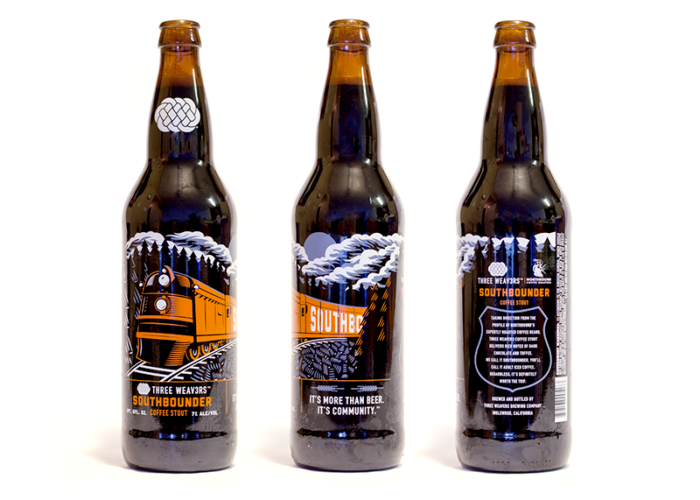 Southbounder Beer Label Packaging Illustration Rotation