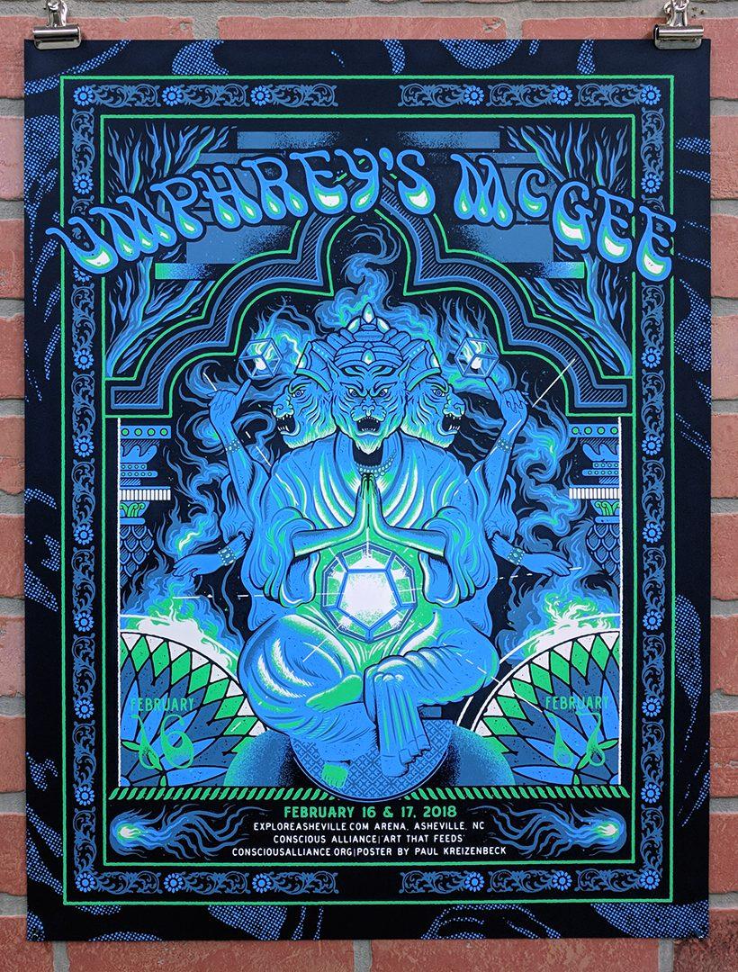 Umphrey's McGee Asheville Poster Gigposter by Paul Kreizenbeck