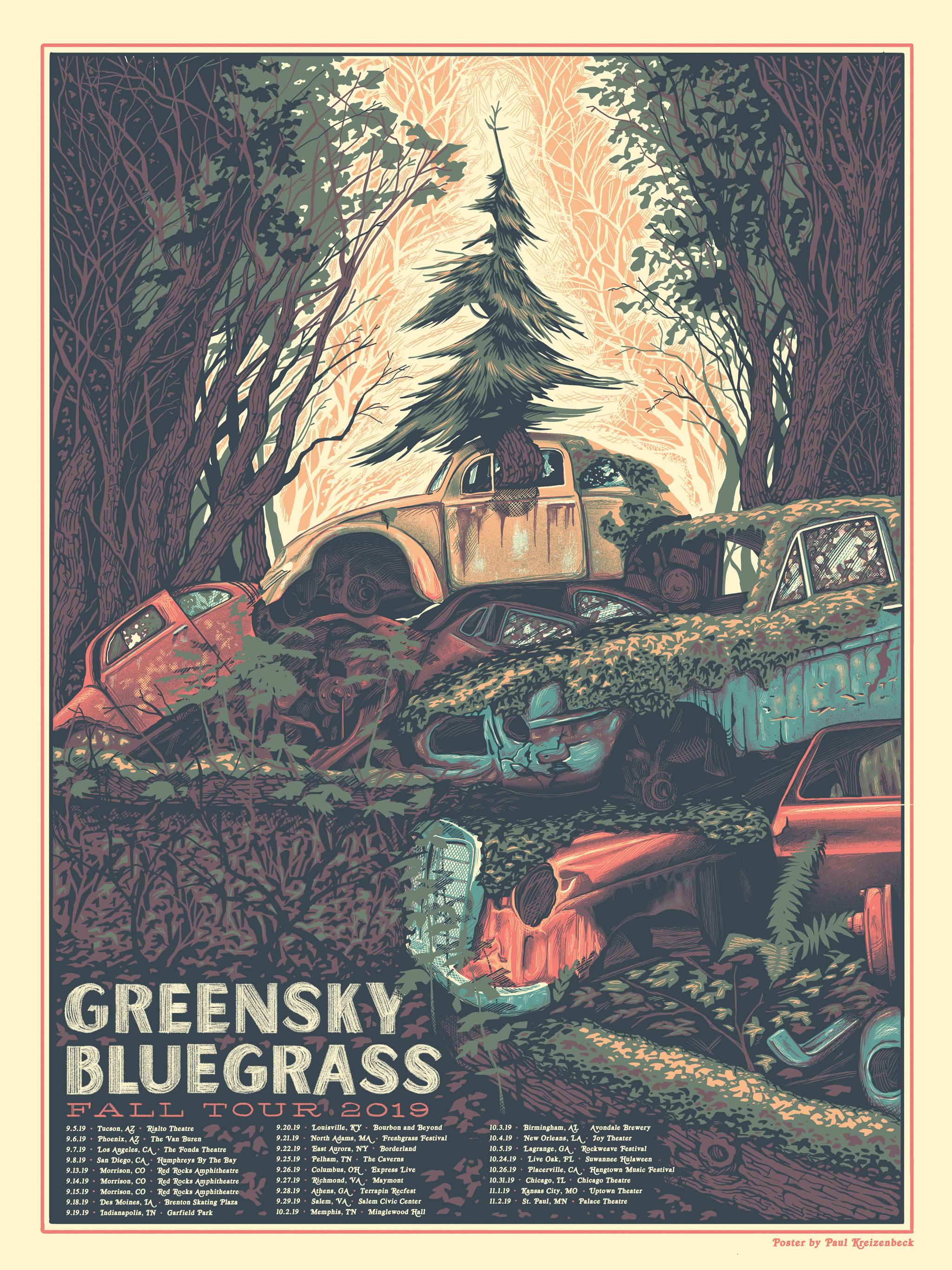 Greensky Bluegrass Paul Kreizenbeck Design And Illustration